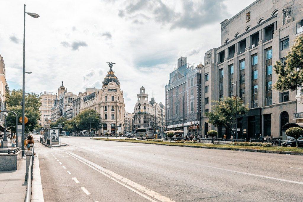 madrid, city, road